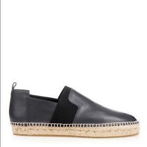 Balenciaga Leather Slip-On Espadrilles